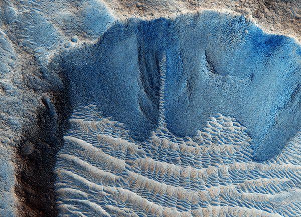 Представлены новые доказательства возможного существования на Марсе жидкой воды